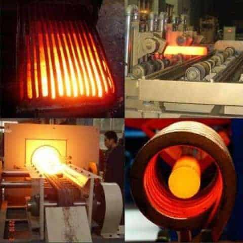 Medium frequency hot forging