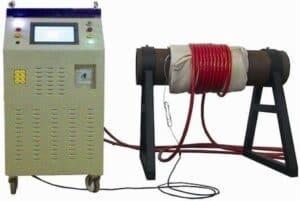 Sistema de canalización de precalentamento por indución
