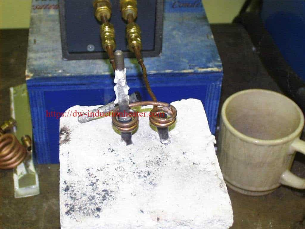 Brazing Cutting Tools With Induction System 15kw 30 80khz All Solid State Heater Heating Melting Furnace