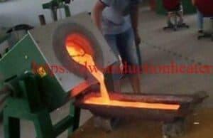 INDUCIÓN FURNACE de fusión de cobre