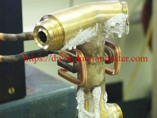 Induction Brazing Brass Faucet With Rf Heating System