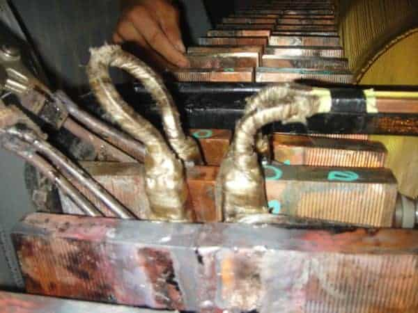 induction brazing copper billets