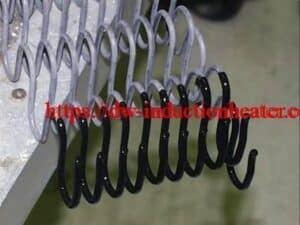induction heating springs for coating