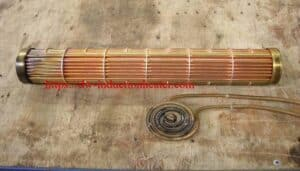 induction soldering brass heating exchanger