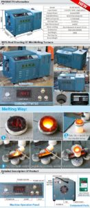 small melting gold induction furnace