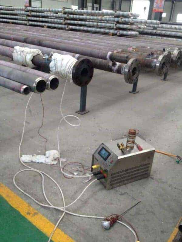 Portable preheating pipeline system