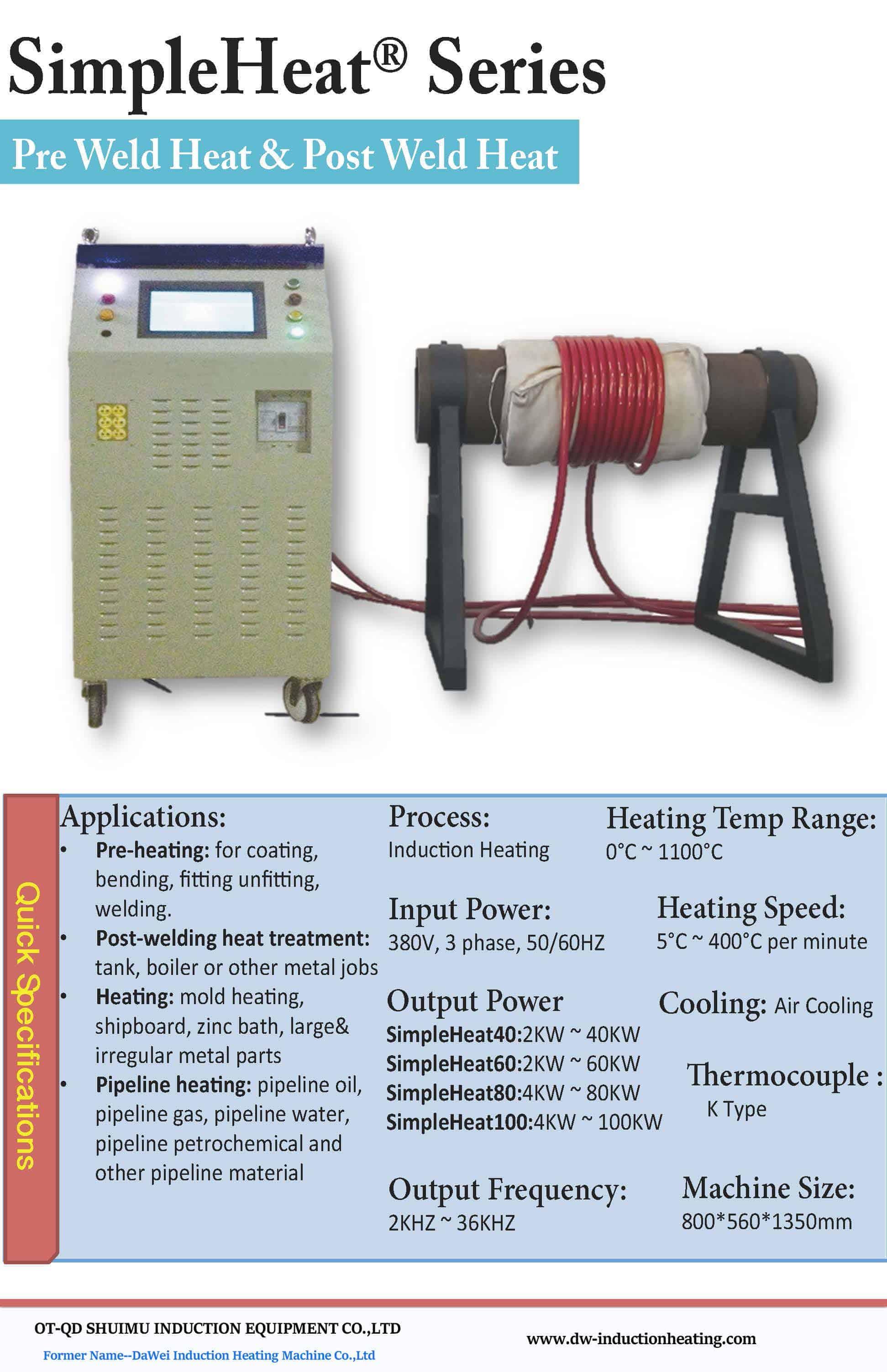 Gas Olpipeline Vorwarmschweissmaschine Vorwarmung Nach Dem
