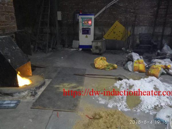 induction nga pagtunaw sa brass furnace