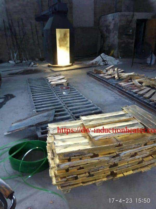 induction brass copper melting furnace