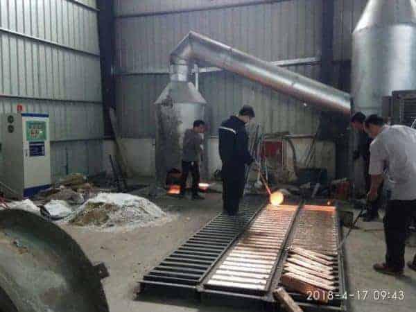 induction brass melting