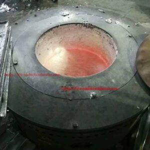 Aluminium melting entduction furnace