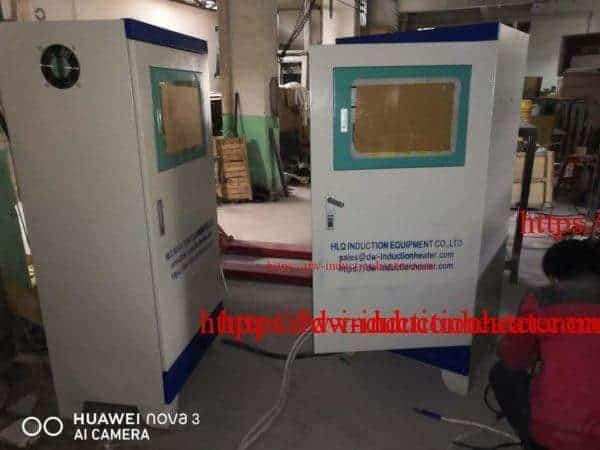 Aluminium melting furnace with induction