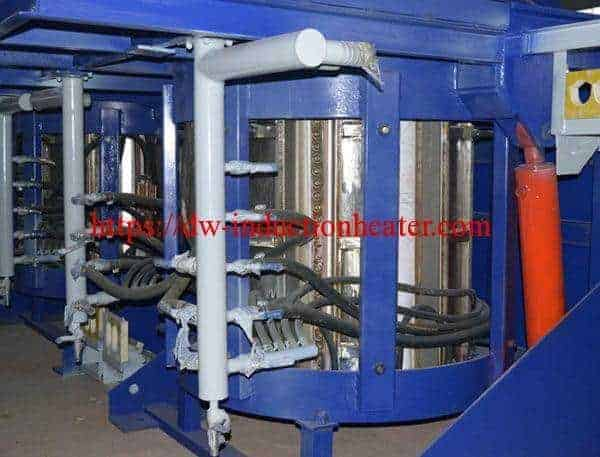 Hydraulic steel melting furnace induction