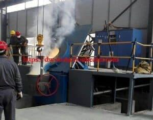 लोह स्टील स्क्रॅप पिळणे भट्टी