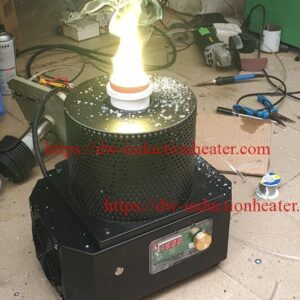 small gold melting furnace with medium frequency melting