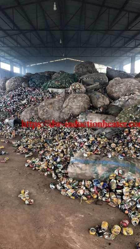 aluminum cans melting recycling