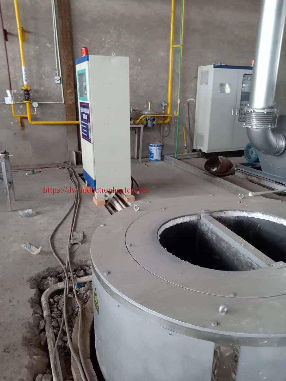 Induktionsofen zum Schmelzen von Aluminiumschrott