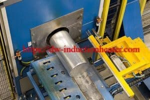 Continous aluminum billets furnace furnace with induction