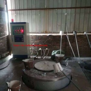 melting aluminum scraps/ingots/cans furnace with induction