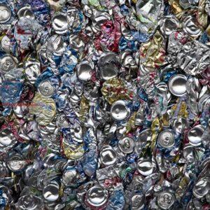 Aluminiumdosen, die Schmelzofen recyceln