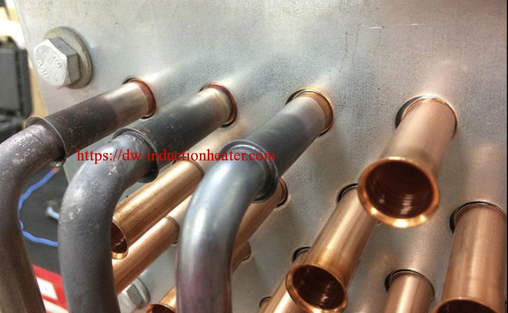 Induction brazing copper tube
