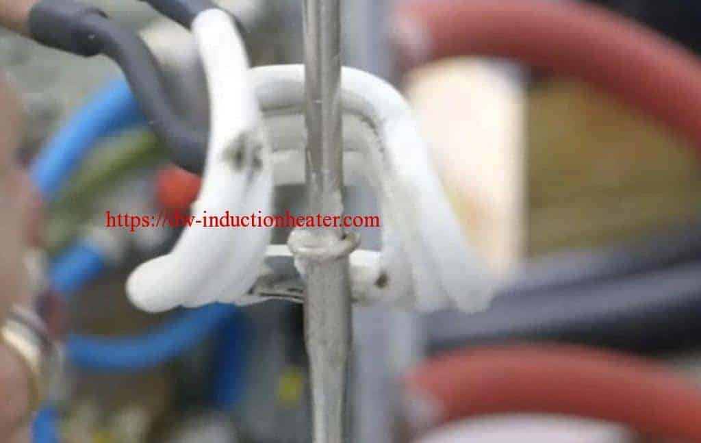 Induction brazing aluminium tube