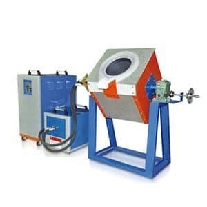 Tilting-induction-melting-furnaces